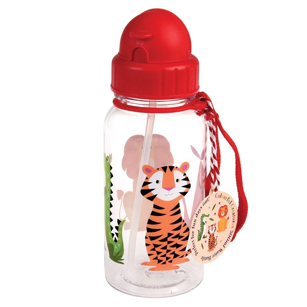 Detská fľaša so slamkou (Pestrofarebné potvorky)