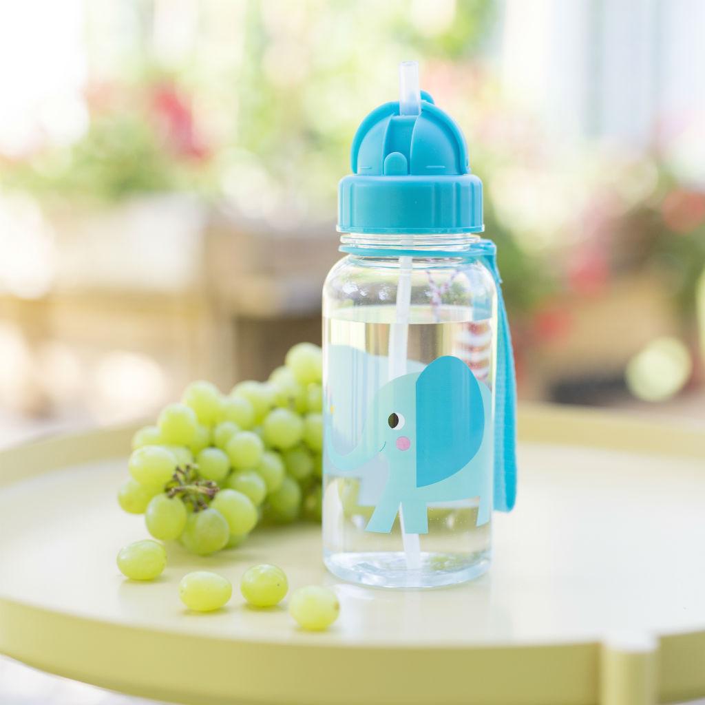 Detská fľaša so slamkou (Sloník Elvis)