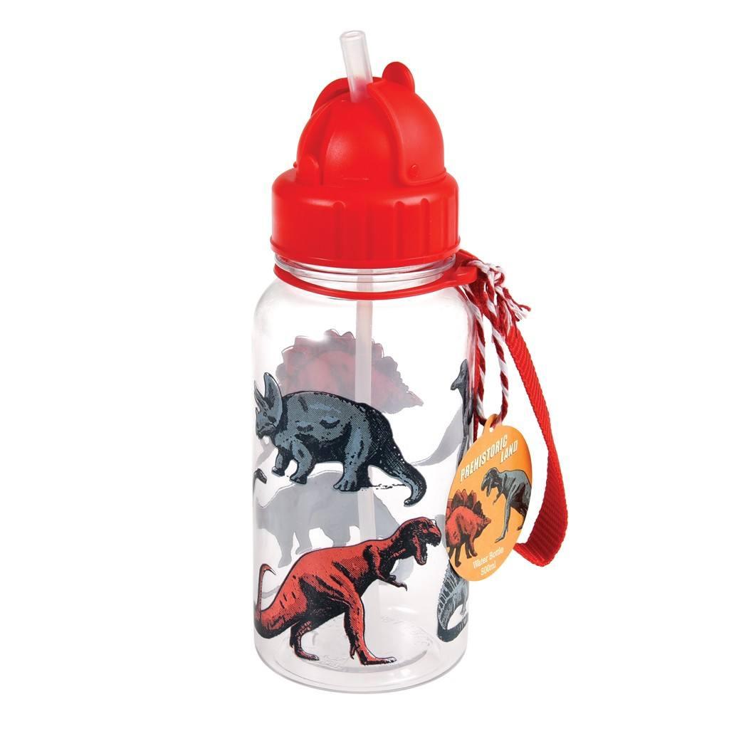 Detská fľaša so slamkou (Dinosaury)
