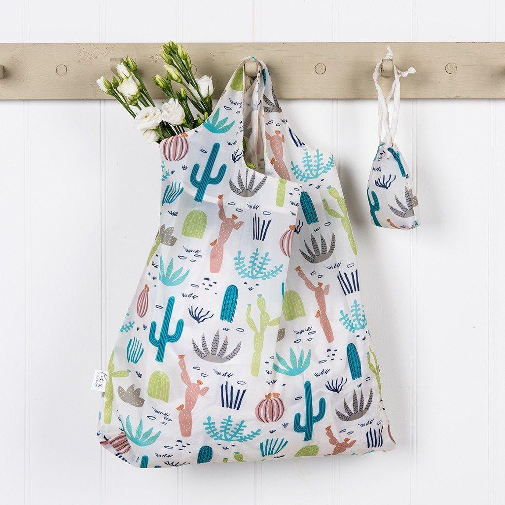 Skladacia nákupná taška (Kvitnúca púšť)