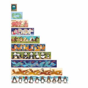 """Náučné puzzle """"10 tučniakov"""" (detail)"""