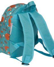 Detský mini ruksak (Lišiak Rusty) – zozadu