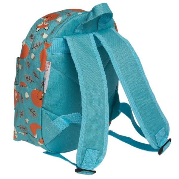 Detský mini ruksak (Lišiak Rusty) - zozadu