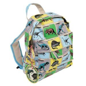 Detský mini ruksak (dinosaury) - zboku